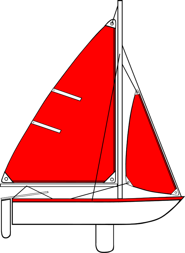 Sailing vector sailboat clipart. Red sails clipground boat