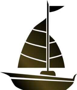 Sailing vector sailboat clipart. Simple clip art sandy
