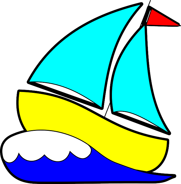 Sailing vector sailboat clipart. Boat cartoon free on