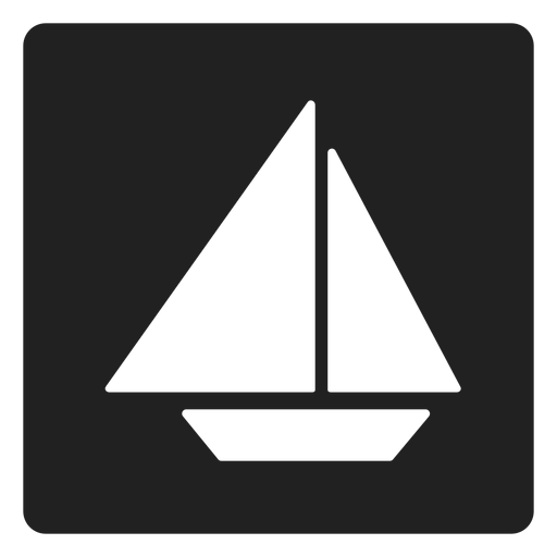 Sailboat png simple. Square icon transparent svg