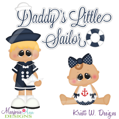 Sailor clipart baby girl. Daddy s little cutting