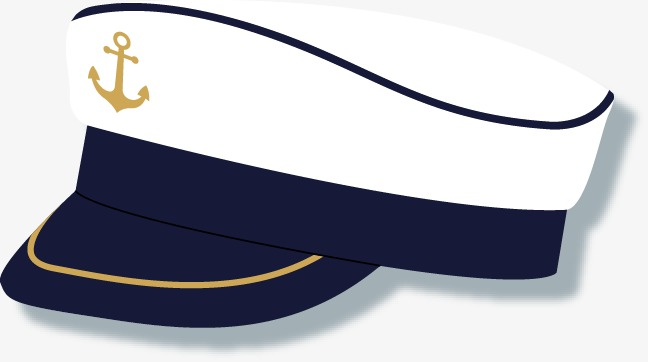 Sailor clipart sailor hat. Vector flat png and