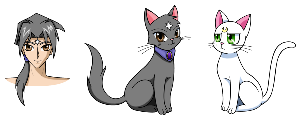 Sailor moon cats png. Character update orion by