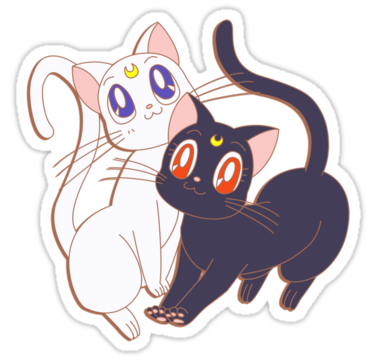 Sailor moon cats png. Laptop decal on the