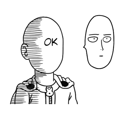 One punch man saitama png. Ok face transparent stickpng