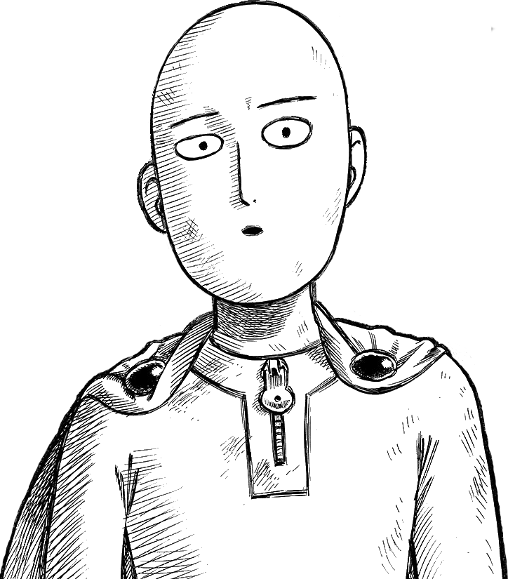 One punch man saitama png. Image serious face transparent