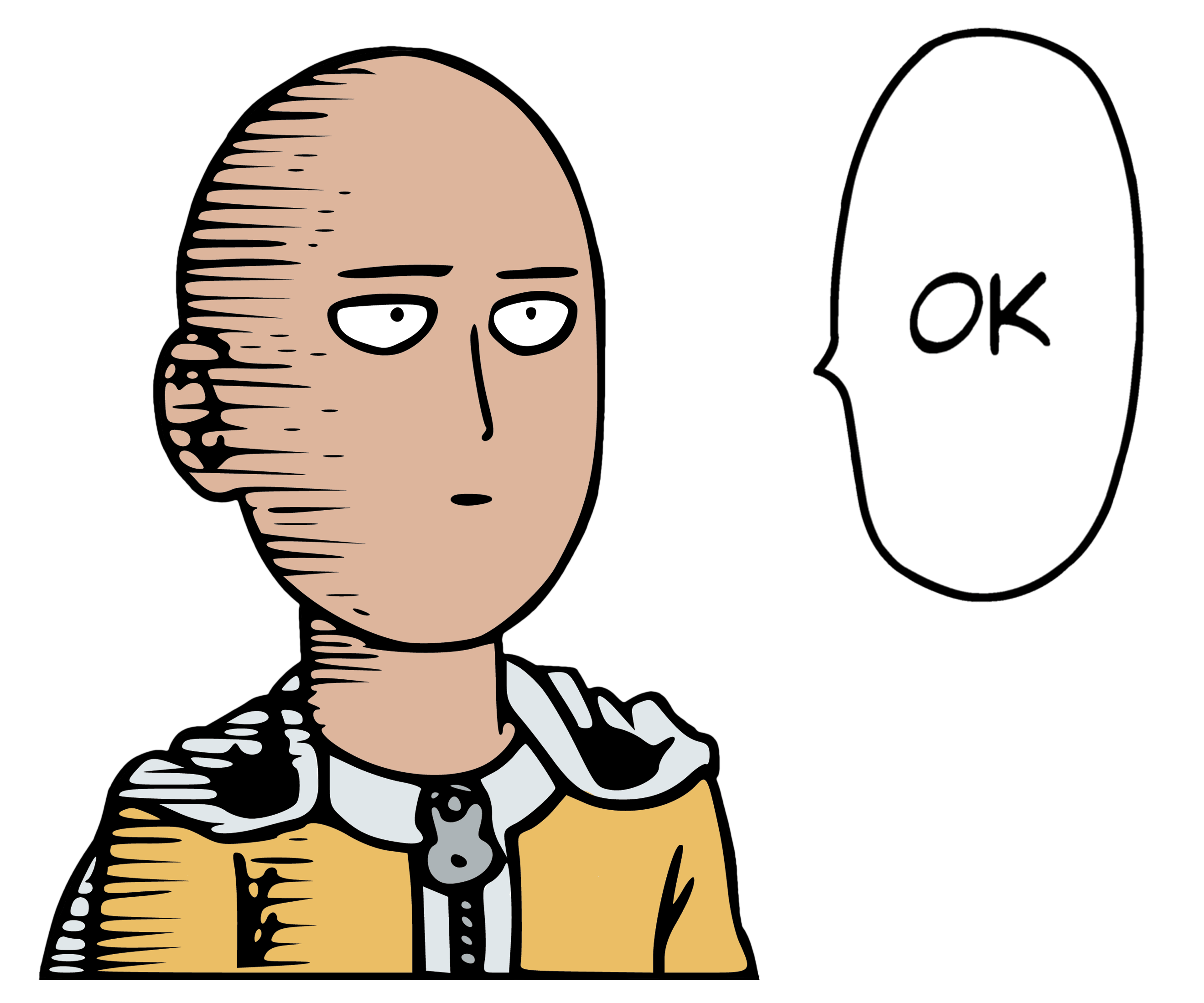 Saitama one punch man png. Ok color transparent stickpng