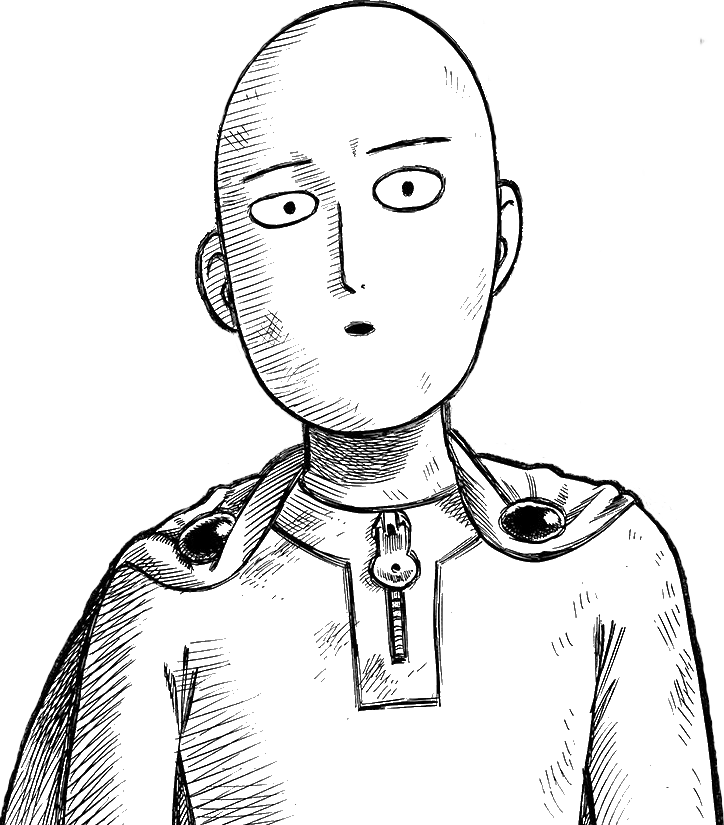 Saitama ok face png. One punch man eh