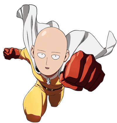 Saitama one punch man png. Image animated foot scene