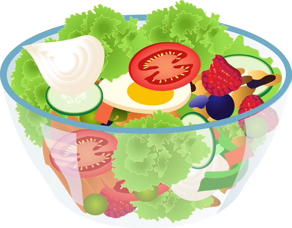 Salad clipart animated.