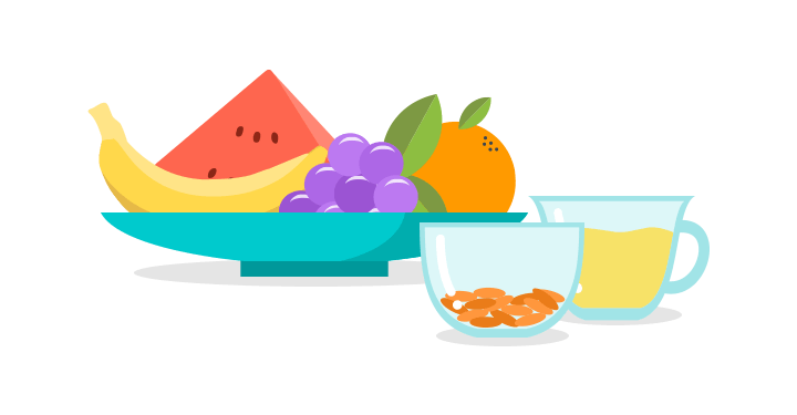 Salad clipart fruit breakfast. Fruits and veggies one