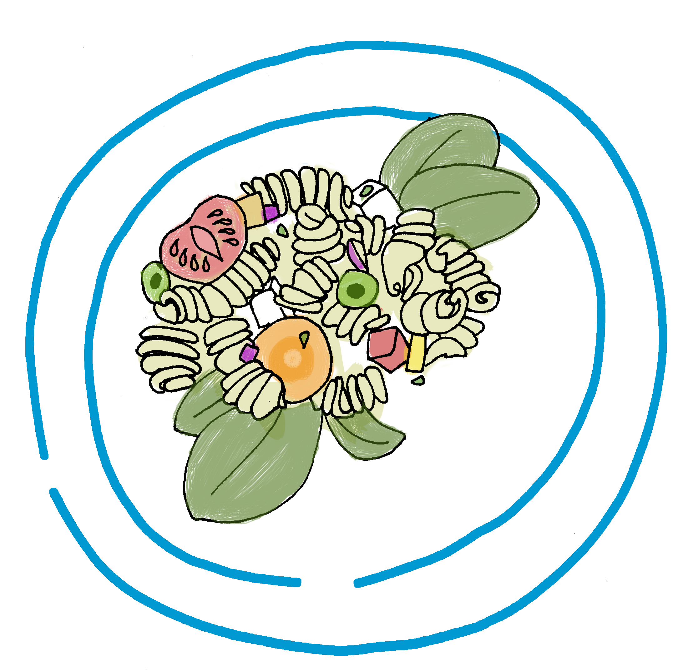 Salad clipart pasta salad. Drawing at getdrawings com