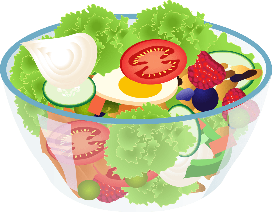 Salad clipart transparent background. No clip art library