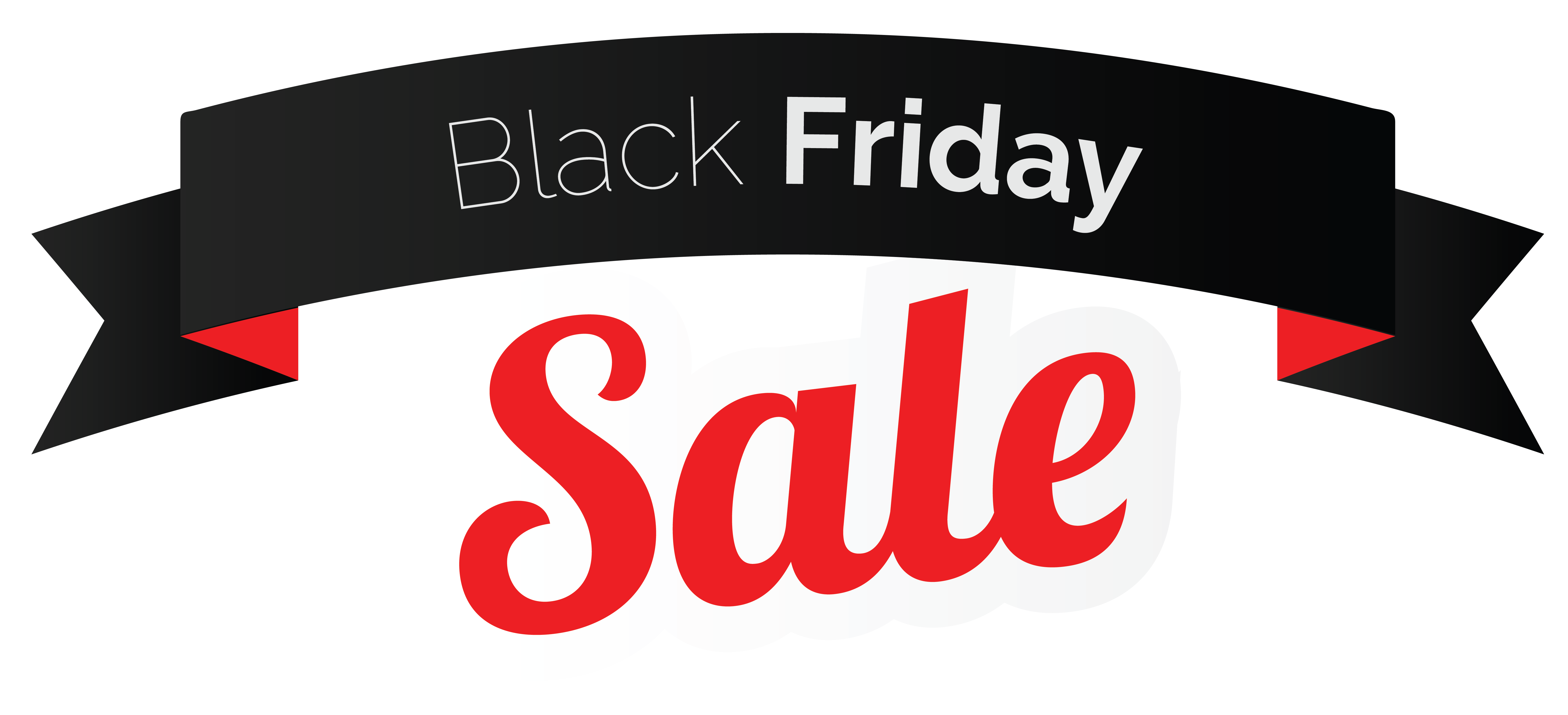 Black friday png. Sale banner clipart image