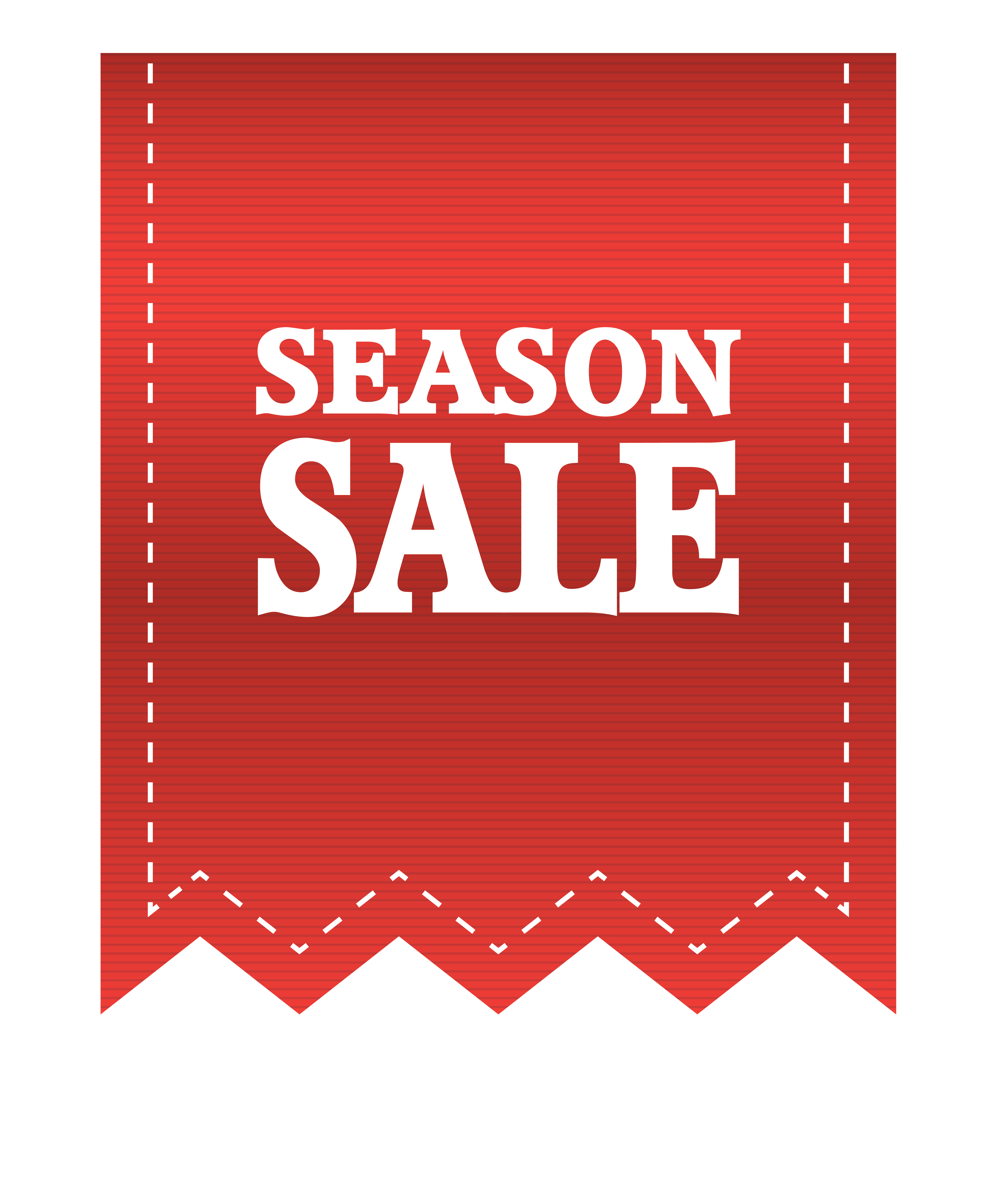 Sale banner png. Red season label clipart