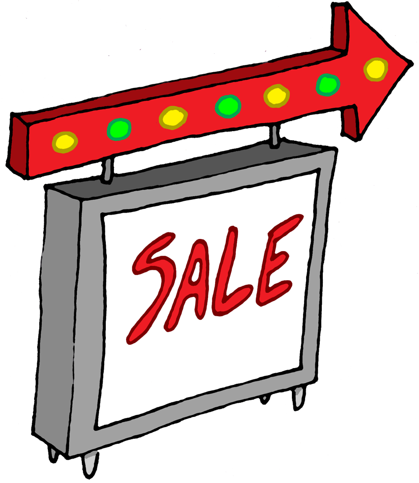 Sale clipart business sale. Cartoon sign