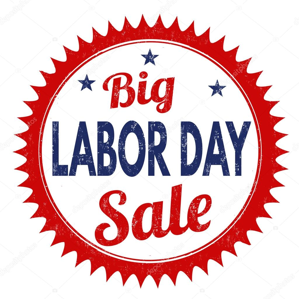 Sale clipart labor day. Big stamp stock vector