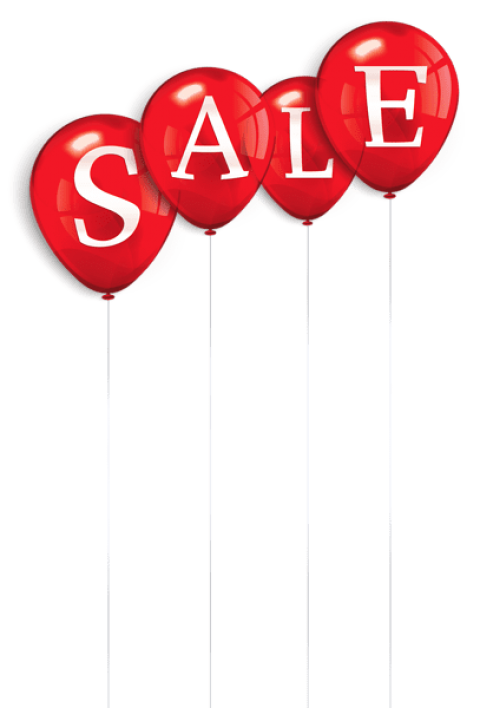 Sale clipart red. Download balloons png photo