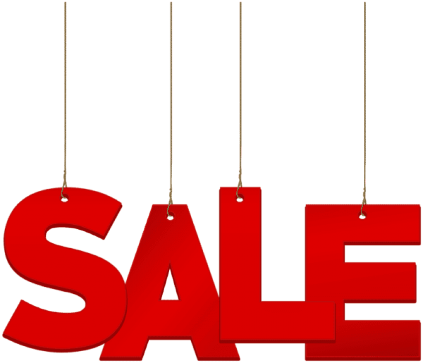Sale clipart red. Download hanging png photo
