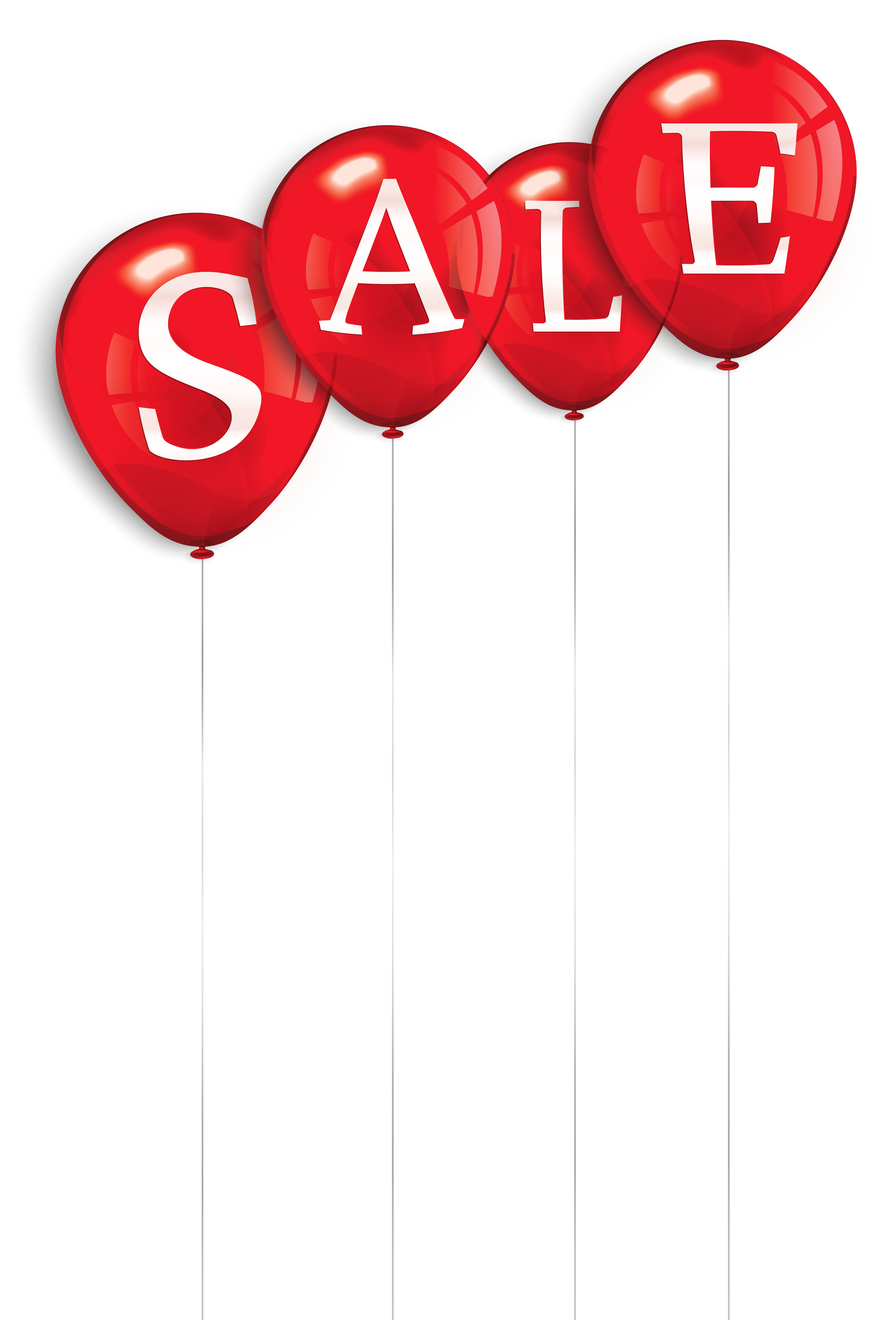 Sale clipart red. Balloons png image gallery