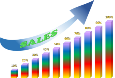 Sale transparent increase. Marketing tips to sales