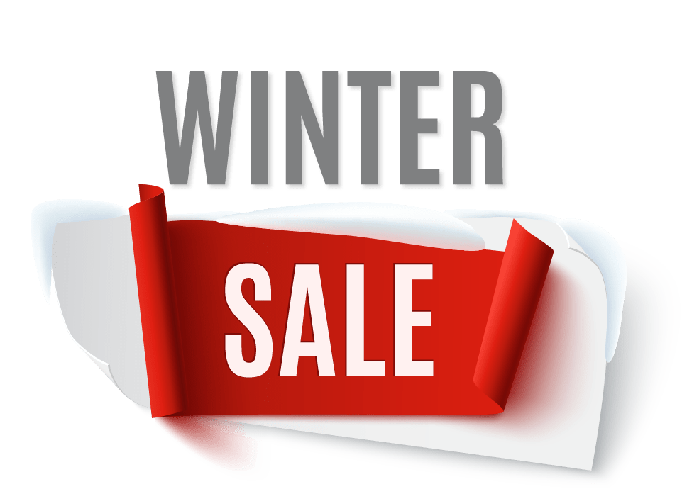 Sale transparent winter. Banners superwave now on