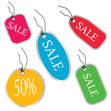 Sales clipart deal. Offer price png vectors