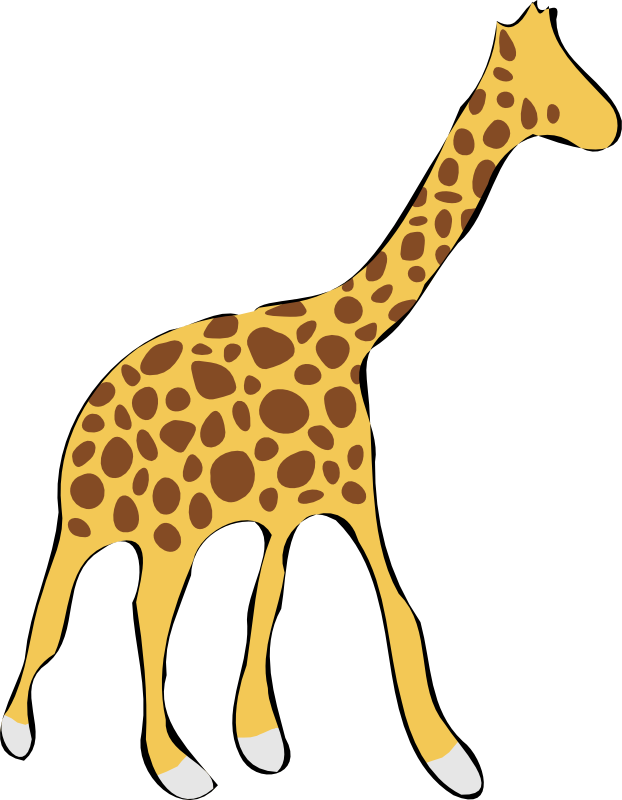 Sales clipart gambar. Giraffe drawing outline bed