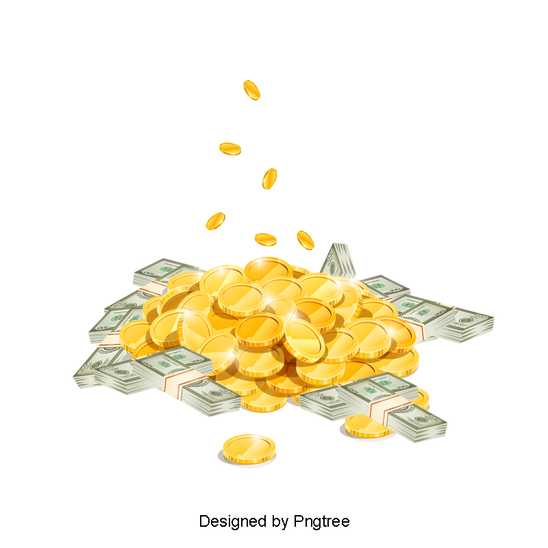 Pile of money png. Clipart and psd file