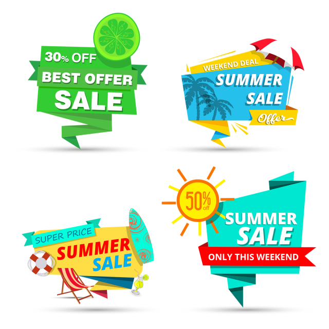 Sales vector halloween. Summer sale tags tag