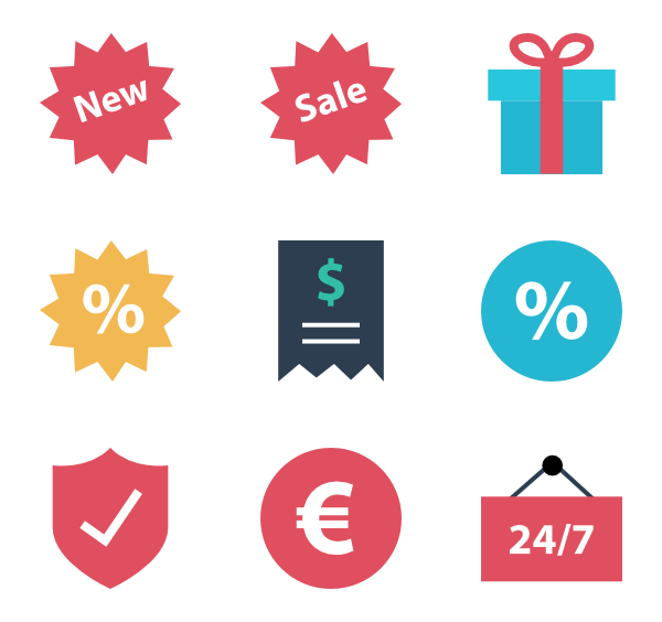 Sales vector retail. Free flat icon download