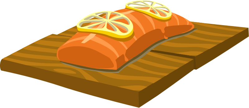 Salmon clipart blue food. Free cliparts download clip