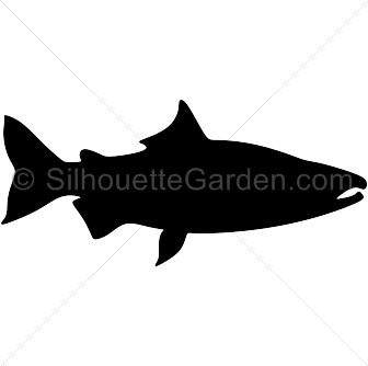 Fish silhouette png. Vector clip art of
