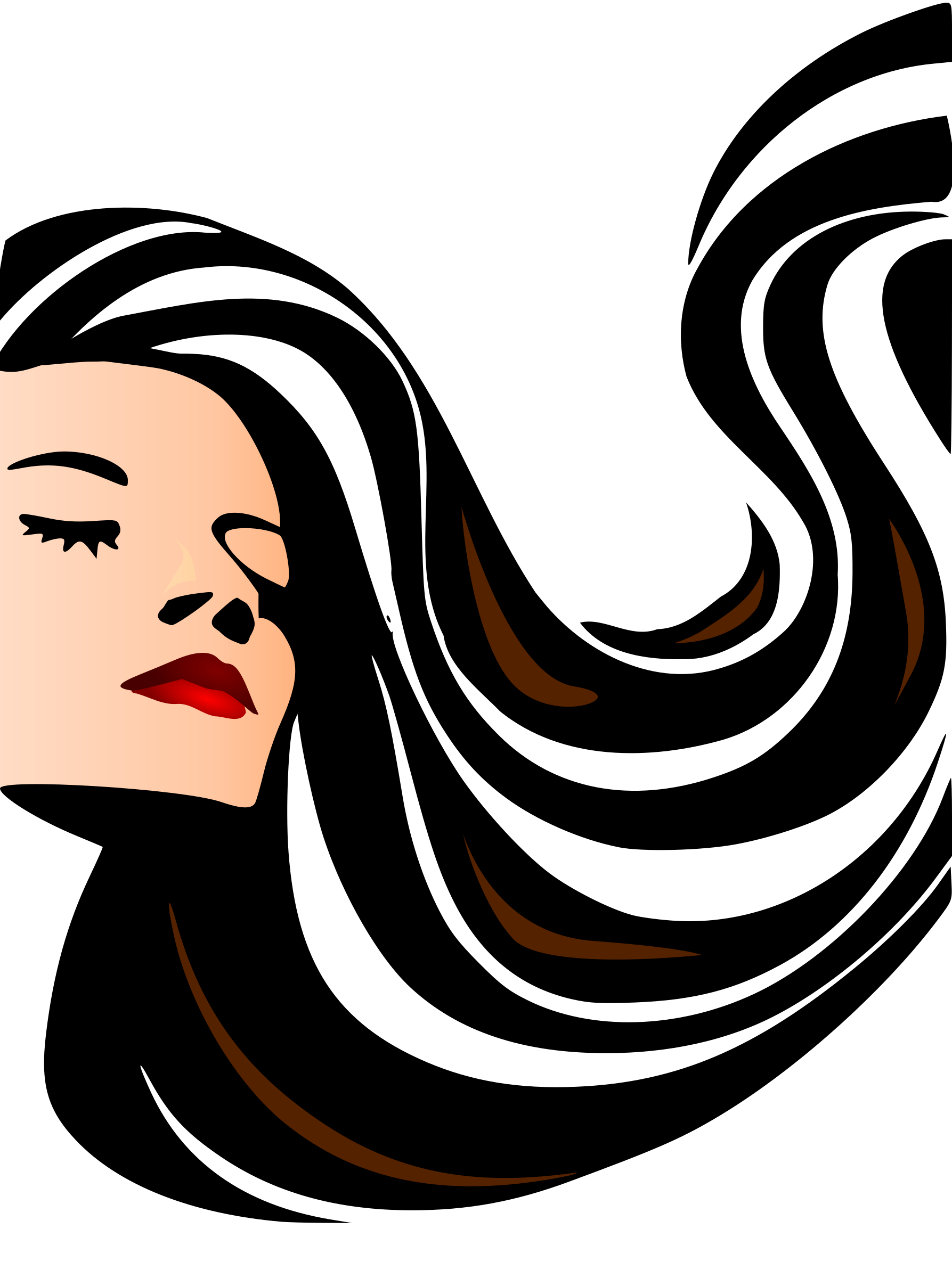 Vector models hair. Beauty face graphic