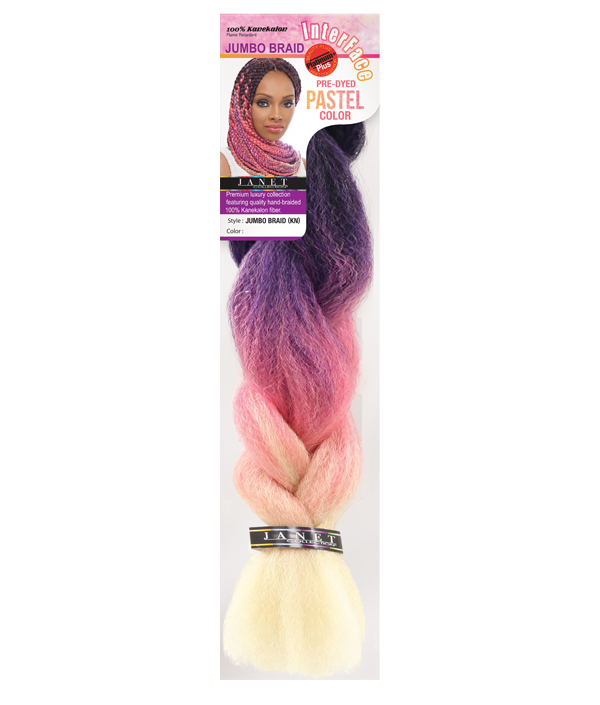 Salon clip jumbo hair. Janet collection braid pastels