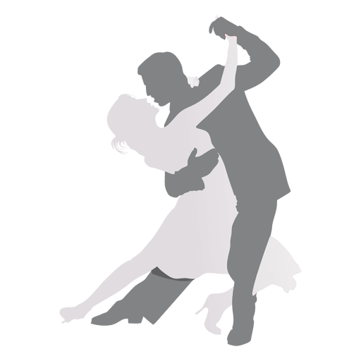 Salsa dance silhouette png. Lovers dancing transparent svg