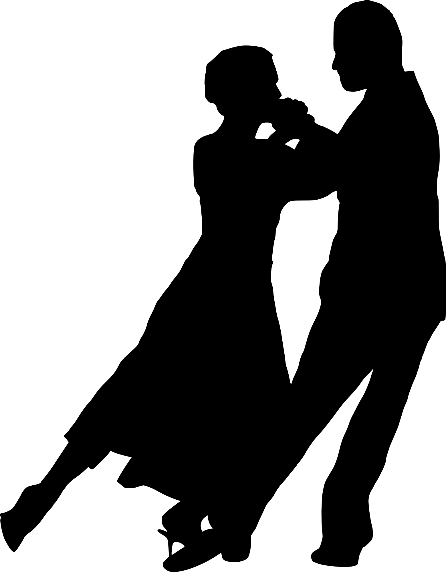 Salsa dance silhouette png. Couple dancing transparent