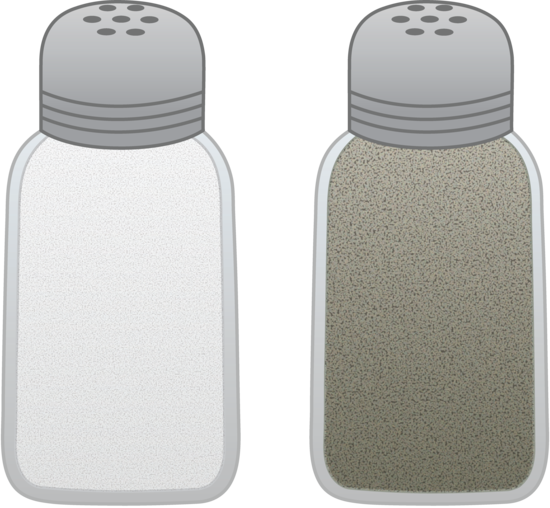 Salt and pepper shakers png. Free clip art