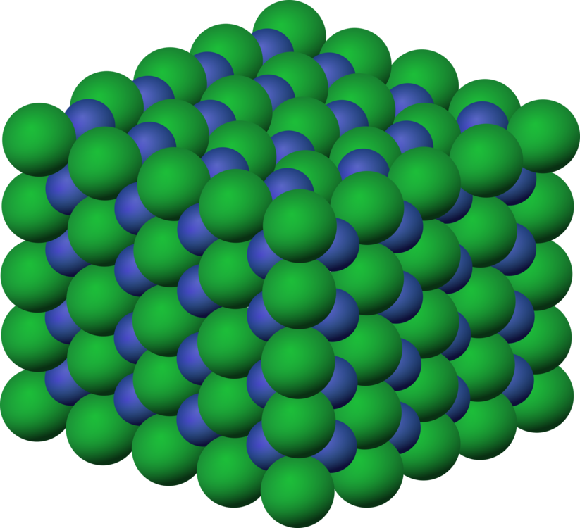 Salt clipart sodium chloride. Crystal structure free commercial