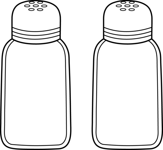 Salt clipart spice shaker. Pencil and in color
