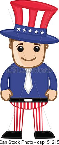 Cute uncle character drawing. Sam clipart banner transparent library