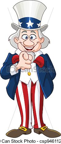 Uncle pointing with his. Sam clipart vector download