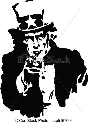 Uncle vector illustration of. Sam clipart black and white svg black and white library