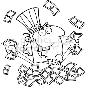 Sam clipart black and white. Royalty free cartoon uncle
