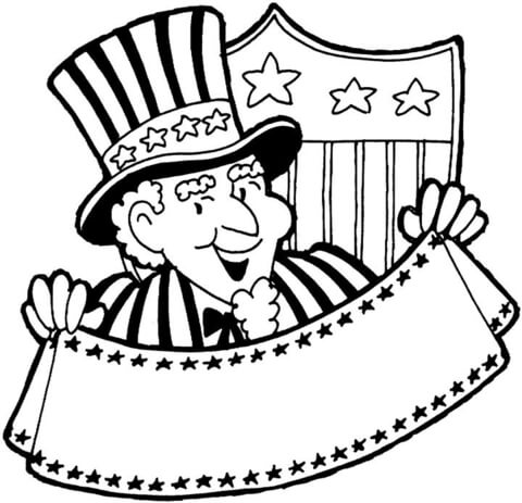 Sam clipart color. Uncle coloring page free