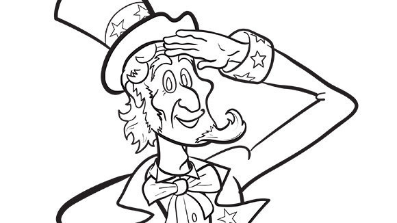 Sam clipart color. Uncle drawing at getdrawings