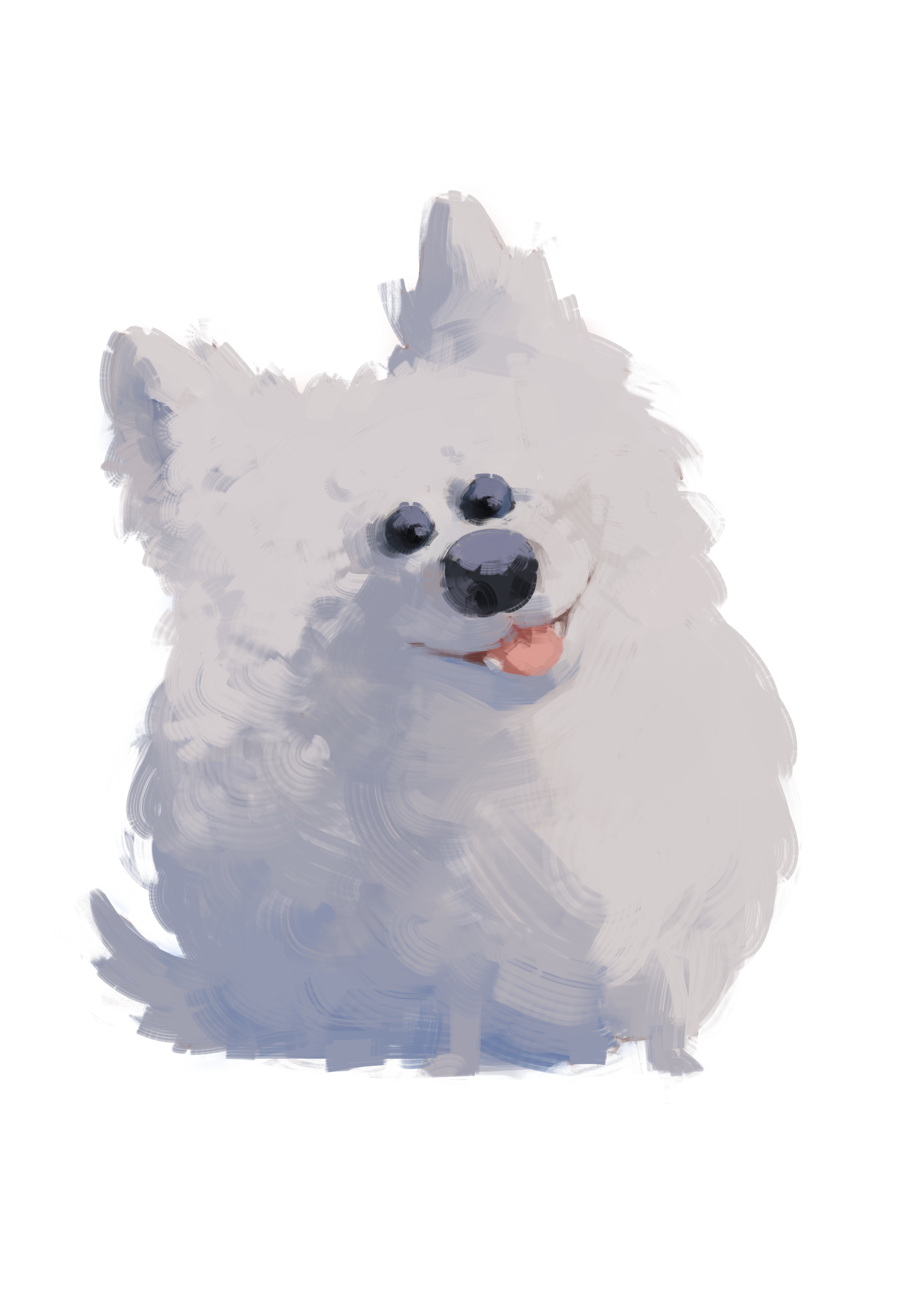 Eskimo drawing samoyed. Drawings on paigeeworld pictures