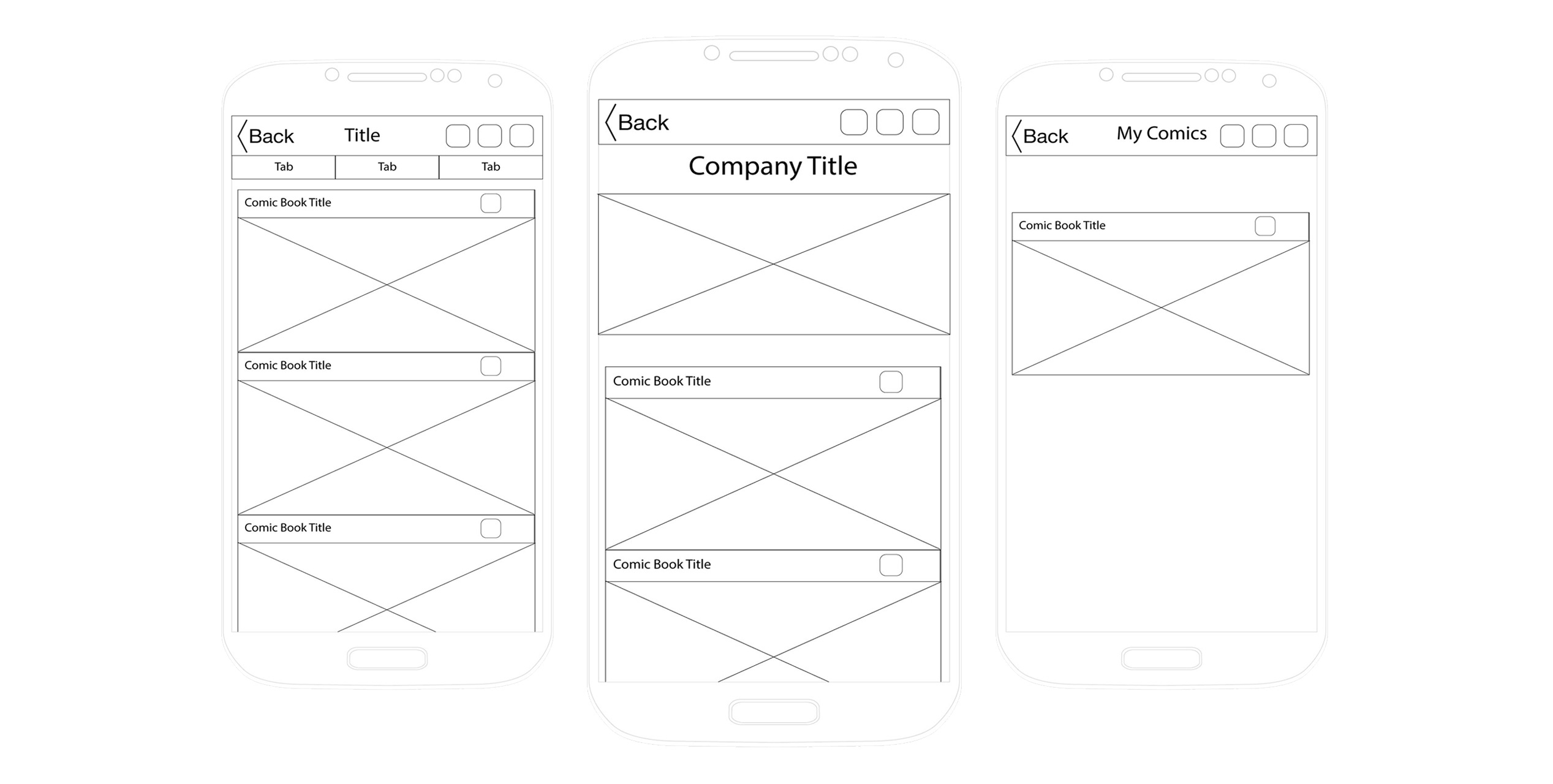 Samsung drawing wireframe. Html comic list featured