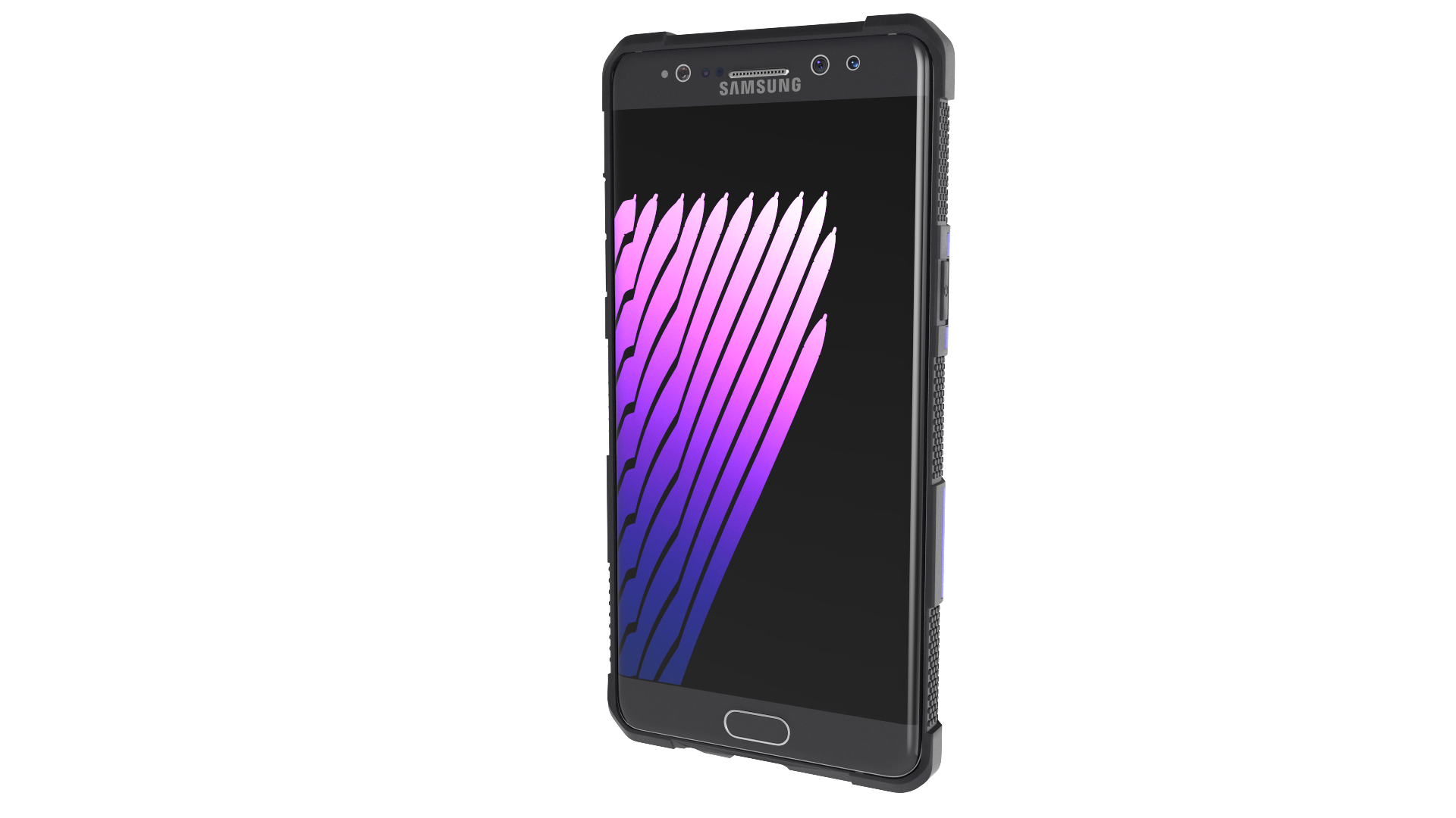 Samsung galaxy note 7 png. With phone case by