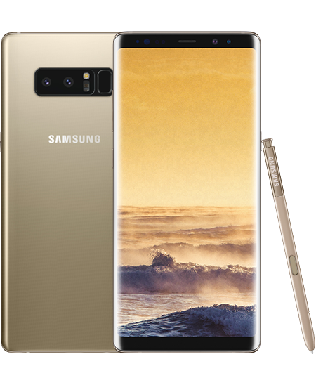 Samsung galaxy note 8 png. Gold techno vision buy